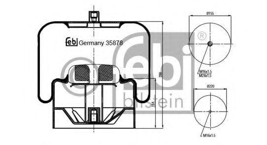 35878 Compressed-air System Boot, air suspension