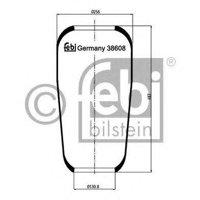 38608 Compressed-air System Boot, air suspension