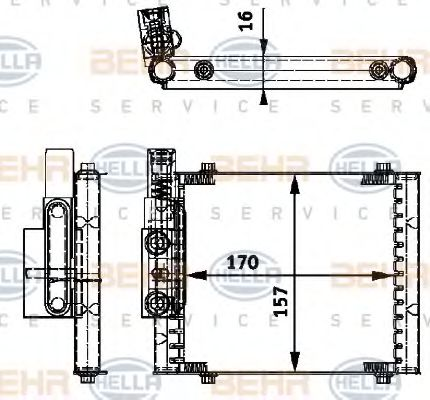 8MO 376 726-231 Oil Cooler, automatic transmission