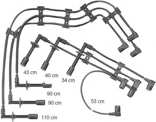 ZE715 Ignition Cable Kit