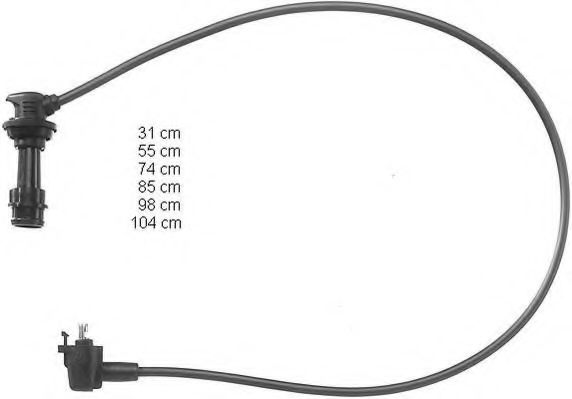 Beru AG ZEF466 Ignition Cable