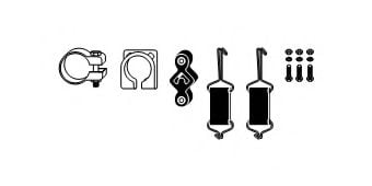82 32 7035 Mounting Kit, exhaust system