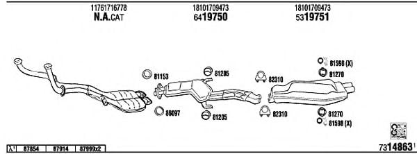 BW73508 Exhaust System