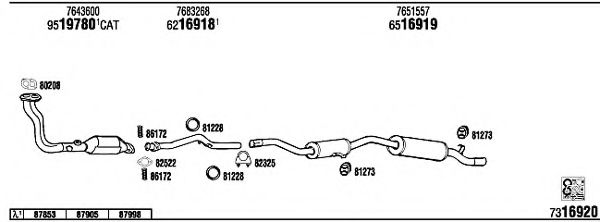 FI61170 Exhaust System