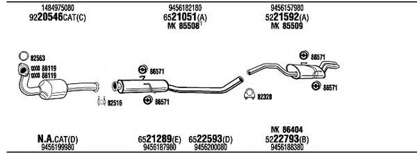 FIT20026A Exhaust System
