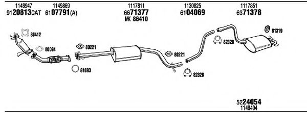 FOH15493A Exhaust System
