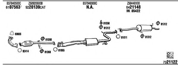 MA41211 Exhaust System