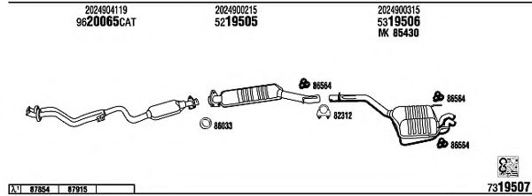 MB22012 Exhaust System