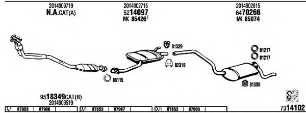MB30036 Exhaust System