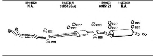 MB44302A Exhaust System