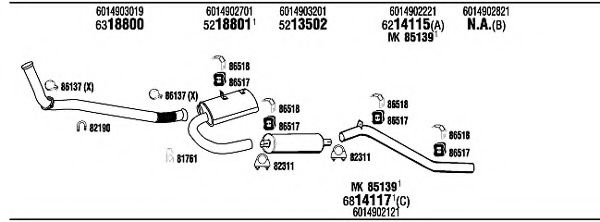 MB83074A Exhaust System