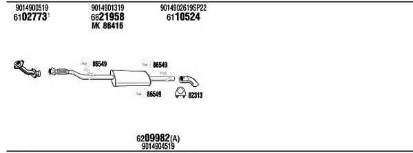 MBK15007AB Exhaust System