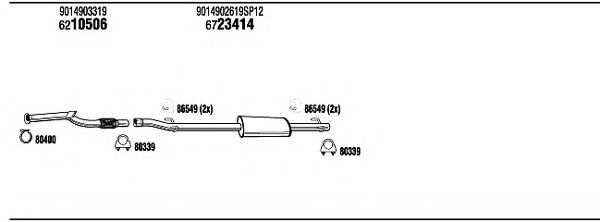 MBK17053 Exhaust System