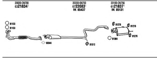 NI55009 Exhaust System