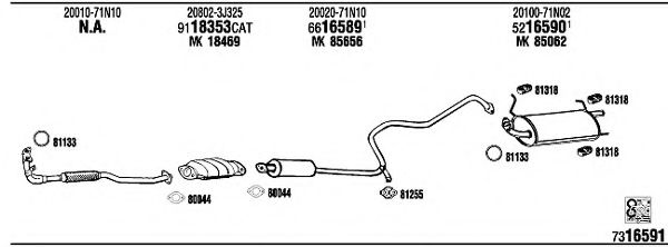 NI65002 Exhaust System
