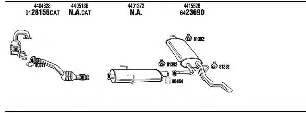 OPH16471B Exhaust System