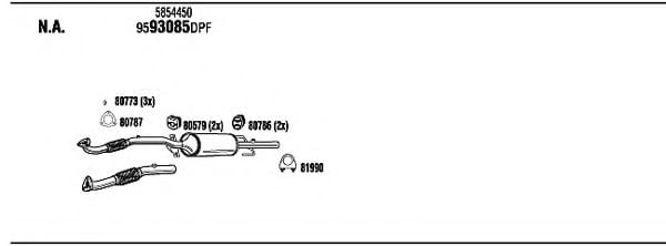 OPH33843A Exhaust System
