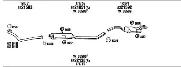 PET08227 Exhaust System
