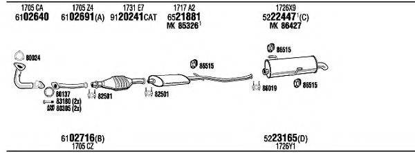 PET09467 Exhaust System