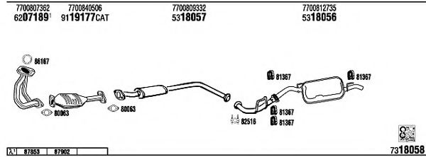 RE57016B Exhaust System