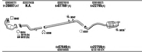 REH17728B Exhaust System