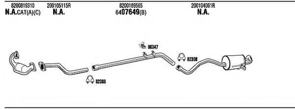 REH32953BB Exhaust System