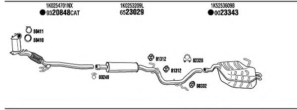 SK61035B Exhaust System