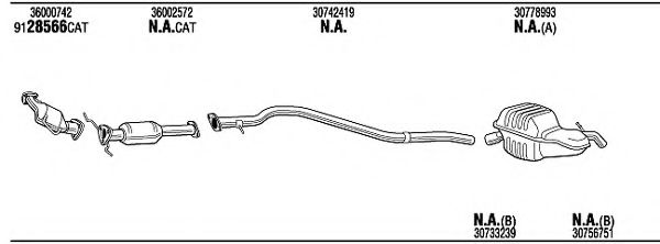 VOK28145A Exhaust System