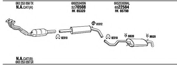 VW20693 Exhaust System