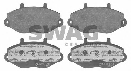 50 91 6036 Brake System Brake Pad Set, disc brake