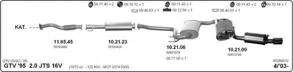 502000210 Exhaust System