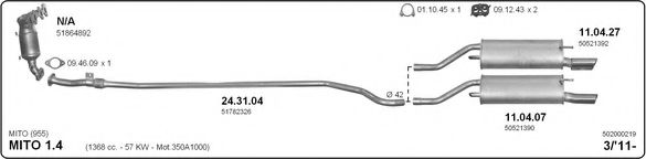 502000219 Exhaust System