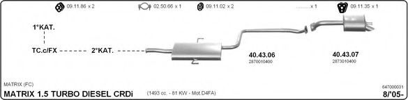 647000031 Exhaust System