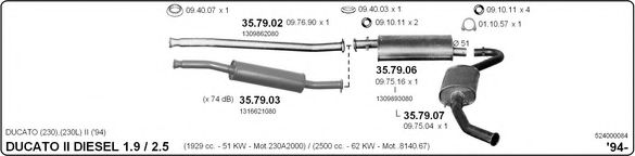 524000084 Exhaust System