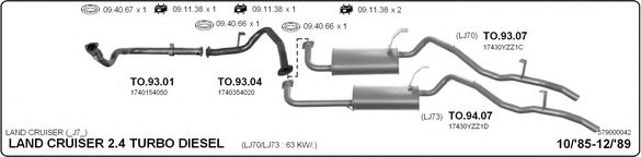 579000042 Exhaust System