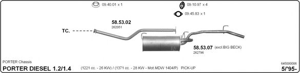 645000006 Exhaust System
