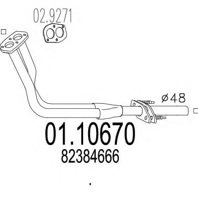 01.10670 Exhaust Pipe