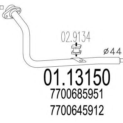 01.13150 Exhaust Pipe