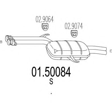 01.50084 Middle Silencer