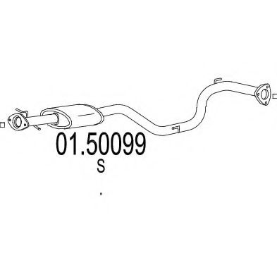 01.50099 Middle Silencer
