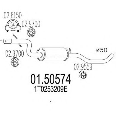 01.50574 Middle Silencer