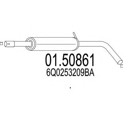 01.50861 Middle Silencer