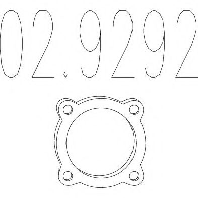 02.9292 Gasket, exhaust pipe