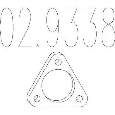 02.9338 Gasket, exhaust pipe