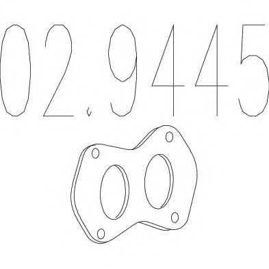 02.9445 Gasket, exhaust pipe