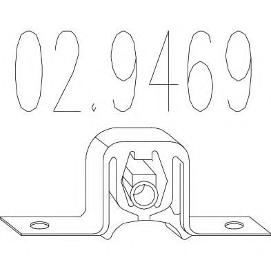 02.9469 Holder, exhaust system