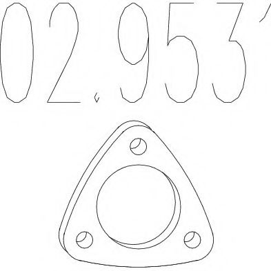 02.9531 Gasket, exhaust pipe