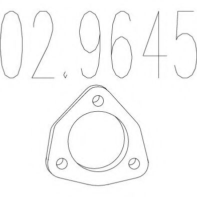 02.9645 Gasket, exhaust pipe