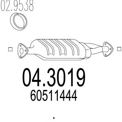 04.3019 Cover, clutch housing