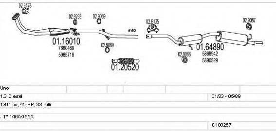 C100267012989 Exhaust System